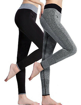 Womens Push-Up Elastic Yoga Pants Sports legging Gym Fitness Workout Trousers