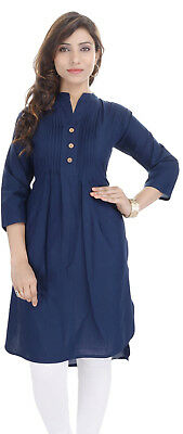 Indian Bollywood Kurta Designer Kurtis Cotton Tunic Top Ethnic Pakistani