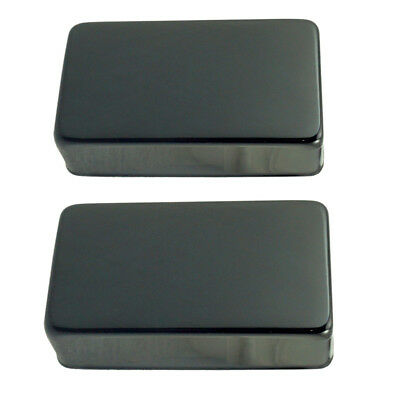 2 Pcs Metal Black Sealed Humbucker Pickup Cover for Electric Guitar Parts