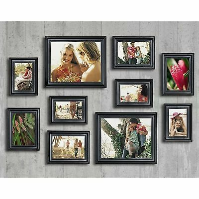 10-Piece Photo Picture Art Frame Set Black Hanging Table Top Display Home Decor