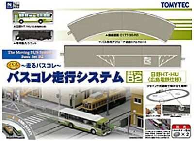 New Tomytec N Scale The Moving Bus System Basic Set B2 Hino HT / HU Hiroden