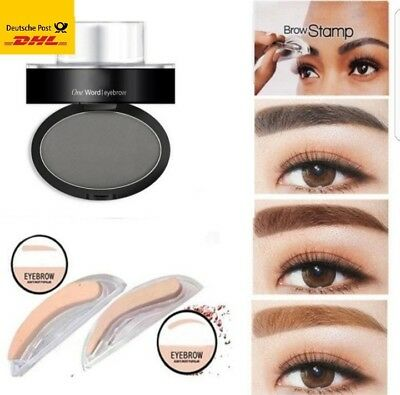 Make up Beauty-Youtube-Tools Augenbrauen Stempel eyebrow stamp in Schwarz Black