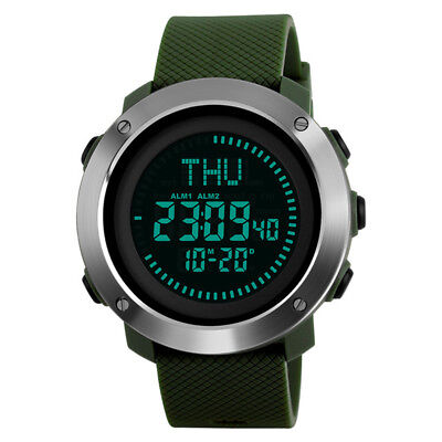 SKMEI Compass Sports Countdown Men LED Display Digital Outdoor Military Watches
