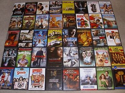 LOT OF (40)  MOVIE DVDs. ACTION, COMEDY, DRAMA & MORE. USED GOOD CONDITION.