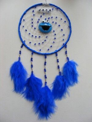 COOKIE MONSTER Personalised Dreamcatcher Girls / Boys Sesame Street Blue Gift