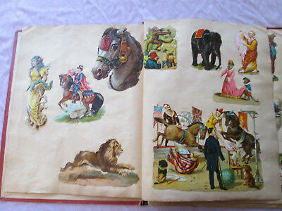 Antique Victorian Cut Out Cards in Album