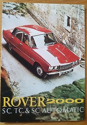 Rover 2000 SC TC Automatic Saloon Mk II 1970  Vintage Ad Gallery Postcard Mint