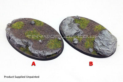 Medium 105 x 70mm Oval Rock Slate Resin Bases - Warhammer 40K Age of Sigmar