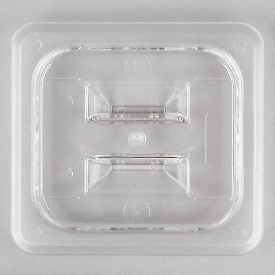 12 PACK 1/6 Size PAN LID Clear Plastic Steam Prep Table Food Polycarbonate Cover