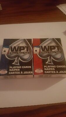 World Poker Tour WPT Official Playing Cards 2 Decks 2004 Bee Made  NEW!