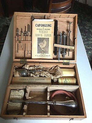 Antique Veterinarian Caponizing Surgical Instruments Medical Oddity Steampunk