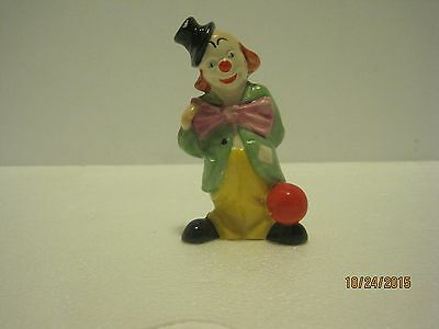 Small Goebel Clown With Red Ball
