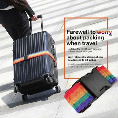 2Pack Travel Luggage Suitcase Strap Rainbow Color Belt Baggage Backpack Bag USA