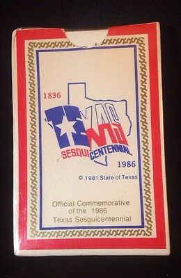 1986 COMMEMORATIVE TEXAS SESQUICENTENNIAL PLAYING CARDS. SEALED & Unopened!