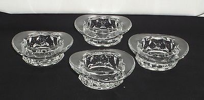 "4 Fostoria AMERICAN CRYSTAL *3 1/2"" HAT/TOPPER ASHTRAY*"