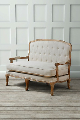 Antique French Sofa 2 Seater Furniture Shabby Chic On Vintage Louis Style
