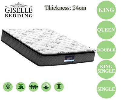 Giselle Bedding Premier Pillowtop Soft Quilting Foam Fabric Mattress Medium Firm