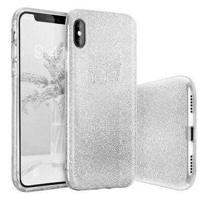 Sparkle Bling Glitter Crystal Rubber TPU Phone Case Cover For iPhone XS 8 Plus 7