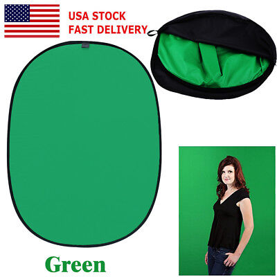 5x7ft Photography Photo Reversible Pop Out Background Panel (Green and Black) MX