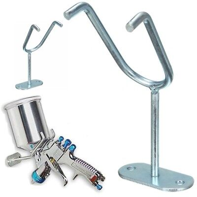 Stand Gravity Paint Spray Gun Holder Feed HVLP Wall Bench Mount Hook Booth Cup