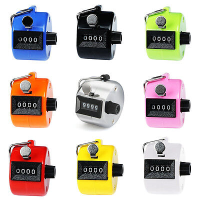 Portable Counter Number 4 Convenient Dual Tally Golf Digit Clicker Handy Blue