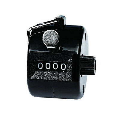 4 Digital Hand Held Tally Clicker Counter 4 Digit Number Clicker Golf Chrome New