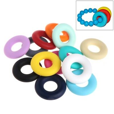 Silicone Safety Beads Pendant Baby Teether Relief Pain Ring DIY Necklace Decor