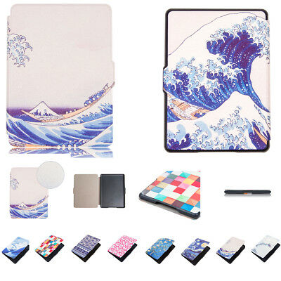 Art Style Leather Case Smart Cover For All-New Kindle 6'' (8th Generation 2016 )
