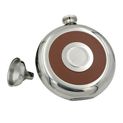 ES_ 5oz Portable Alcohol Liquor Whiskey Wine Hip Flask Stainless Steel Mirror Gr