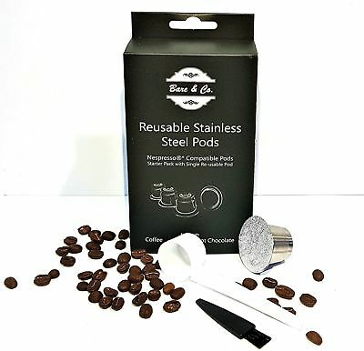 Bare & Co. Reusable Coffee Pods (Nespresso Compatible*) - Single Pod Pack