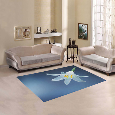 New Arrival Floor Rug Blooming White Lily Area Rug Room Carpet