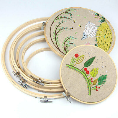 Ring Wooden Embroidery Sewing Tapestry Craft Cross Tools DIY  Stitch Frame Hoop