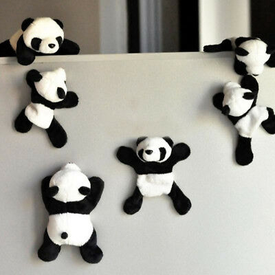 Cute Soft Plush Panda Fridge Magnet Refrigerator Sticker Souvenir Decor Wide