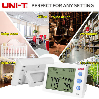 UNIT A13T Humidity Temperature Meter Thermometer Indoor Outdoor Monitor Calendar