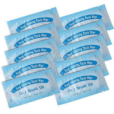 DE 10 Pcs Dental Orthodontic Teeth Tooth Oral Deep Cleaning Brush Up Wipes Mint