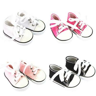 4 Pairs/Lots Canvas Sneakers Shoes for 18'' American Girl AG Dolls Accessory