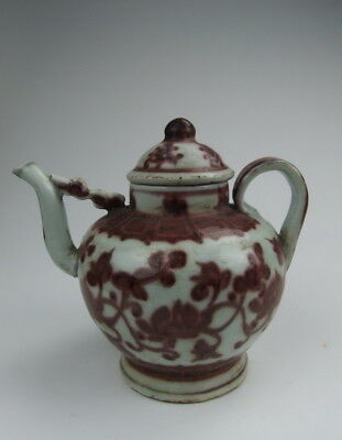 One Nice Chinese Antique Red Underglazing Porcelain Winw Pot