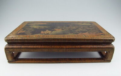 Chinese Antique Lacquer Wooden Desk for Drinking Tea