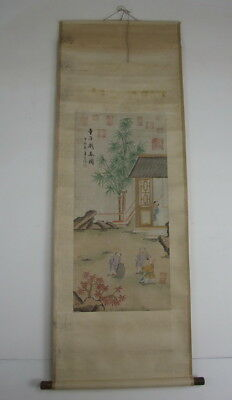 Chinese Antique Signed Scroll Painting Seal Mark: Shang Huan