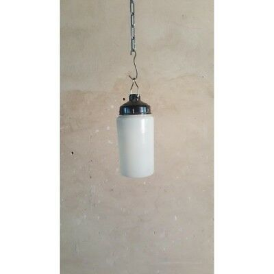 White Glass Vintage Retro Industrial Hanging Lamp Chandelier Lighting Pendant