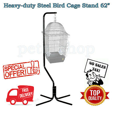 """Bird Cage Stand Steel 62"""" High Pole Hanging Large Birds House Hanger Heavy-duty"""