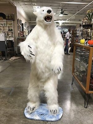 Large Fake Fur Polar Bear made for  Six Flags 5 Foot Tall
