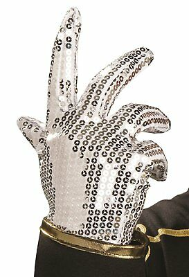 Michael Jackson Child Sized Glove Silver Sequin Accessory Halloween Costume