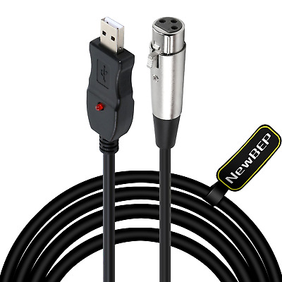USB Microphone Cable,3Pin Mic Link Converter Studio Audio Connector Cord Adapter