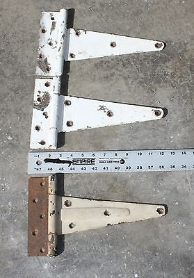 Vintage Large Old Barn Door T Strap Steel Hinges Shabby Rustic Decor