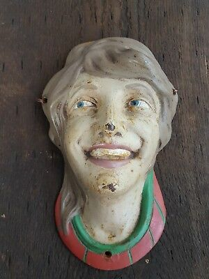 Antique Carousel Shield Cast Iron face no. 2 1919 Herschell Spillman