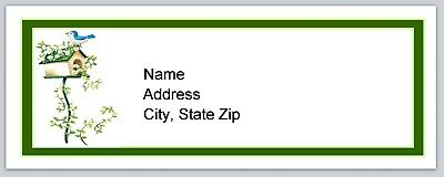 Personalized Address Labels Primitive Country Birdhouse Buy 3 get 1 free (p 138)