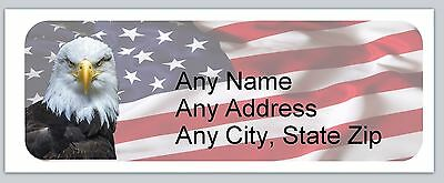 30 Personalized Address Labels US Flag Buy 3 get 1 free (ac 634)