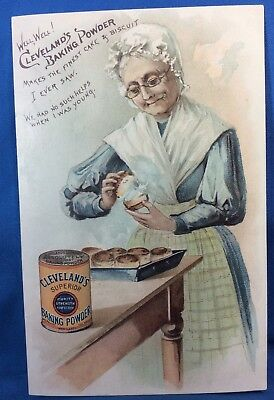 1890 Antique Original Cleveland's BAKING POWDER Victorian Advertising Trade Card