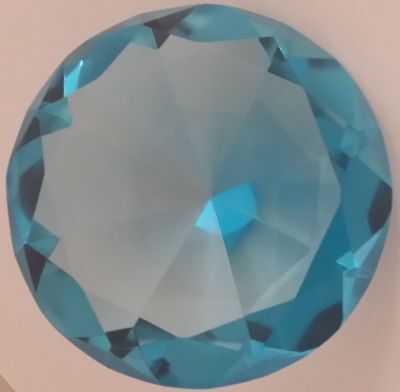 100mm Teal Crystal Diamond Shape Paperweight Glass Gem Display Ornament Gift